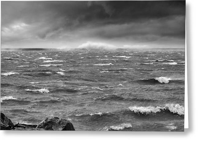Lake Erie Photographs Greeting Cards - Angry Lake 1 Greeting Card by Peter Chilelli