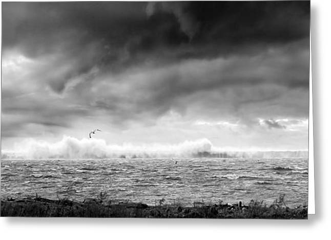 Lake Erie Photographs Greeting Cards - Angry Lake 2 Greeting Card by Peter Chilelli