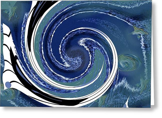 Artprint Greeting Cards - Angry Ocean Greeting Card by Alec Drake