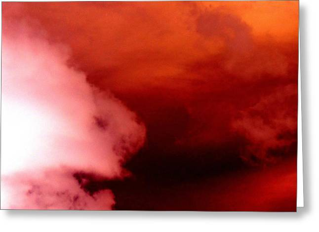 Stormy Weather Greeting Cards - Angry Sky Greeting Card by Randall Weidner
