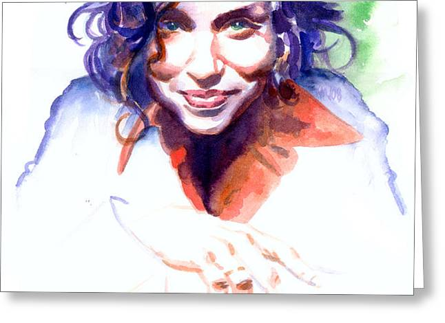 Ani DiFranco Greeting Card by Ken Meyer jr