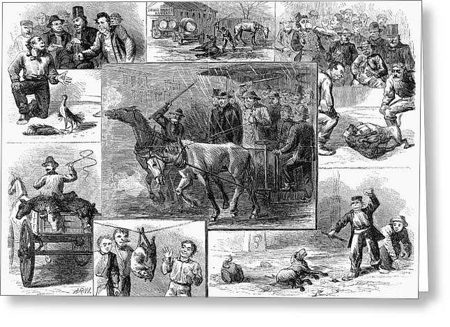 Humane Greeting Cards - Animal Cruelty, 1867 Greeting Card by Granger