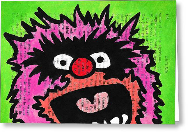 Lime Drawings Greeting Cards - Animal Greeting Card by Jera Sky