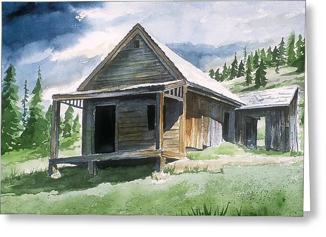 Mining Photos Paintings Greeting Cards - Animas Forks Ghost Town Greeting Card by Richard Mordecki