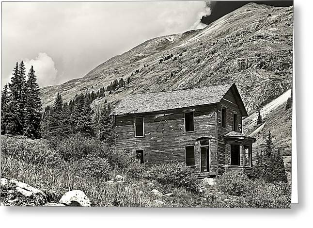 Recently Sold -  - Mining Photos Greeting Cards - Animas Forks in BlackandWhite Greeting Card by Melany Sarafis