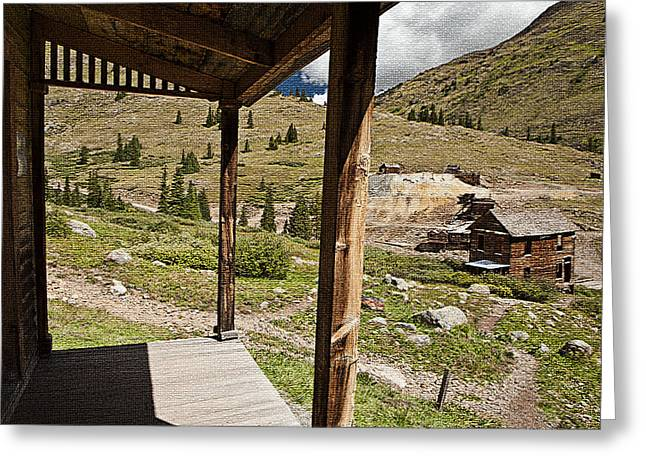 Rural Decay Digital Art Greeting Cards - Animas Forks Mosiac Greeting Card by Melany Sarafis