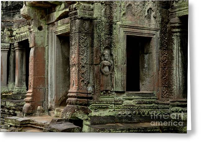 Traveling In Cambodia Greeting Cards - Ankor Wat Cambodia Greeting Card by Bob Christopher
