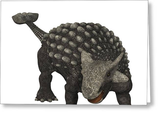 Ankylosaurus Digital Greeting Cards - Ankylosaurus Was An Armored Dinosaur Greeting Card by Corey Ford