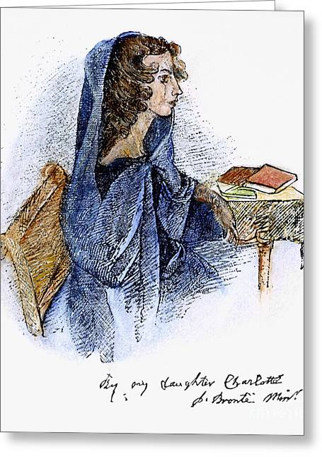 Charlotte Greeting Cards - Ann Bronte (1820-1849) Greeting Card by Granger