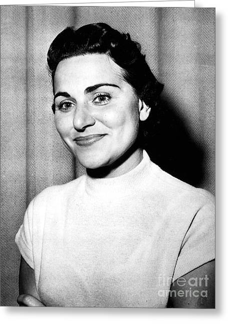 Columnist Greeting Cards - Ann Landers (1918-2002) Greeting Card by Granger