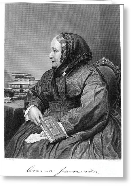 Autograph Greeting Cards - Anna Brownell Jameson Greeting Card by Granger