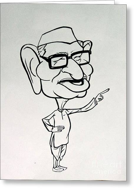 Social Corruption Greeting Cards - Anna Hazare Greeting Card by Tanmay Singh