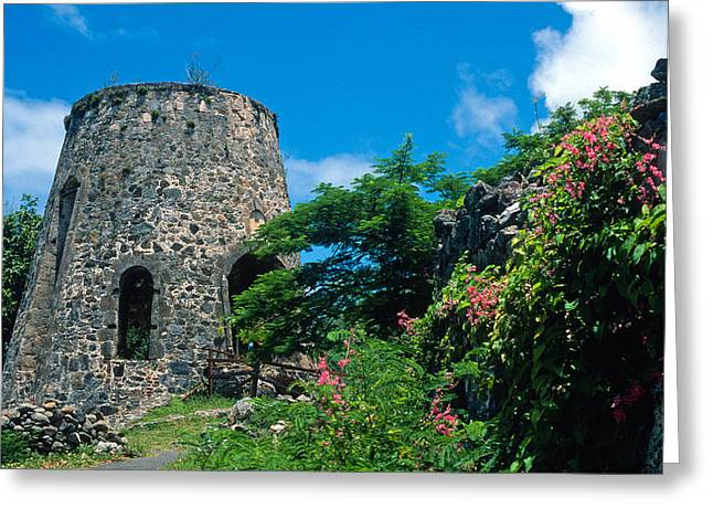 Historical Buildings Greeting Cards - Annaberg Ruins Greeting Card by Kathy Yates