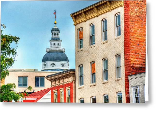 Annapolis Maryland Greeting Cards - Annapolis Duomo Greeting Card by Debbi Granruth