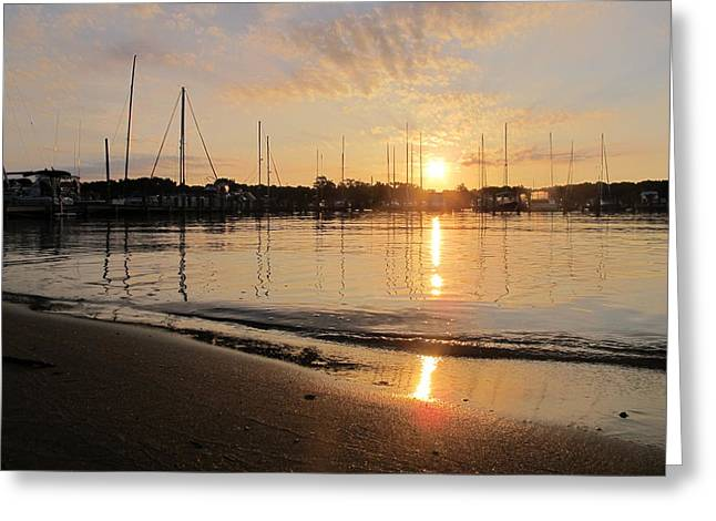 For Pyrography Greeting Cards - Annapolis Sunrise Greeting Card by Valia Bradshaw
