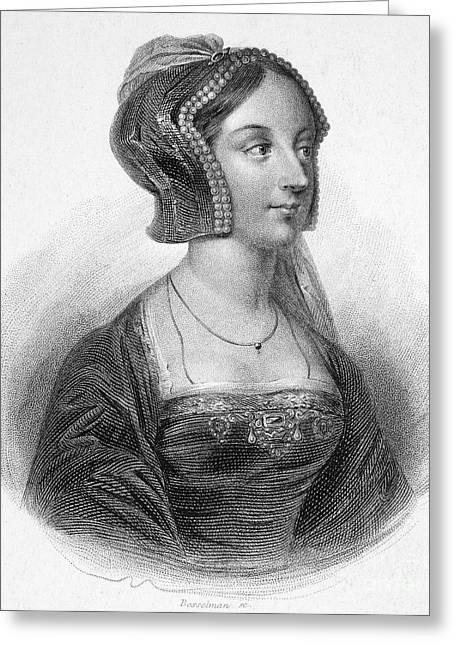 Decolletage Greeting Cards - Anne Boleyn (1507-1536) Greeting Card by Granger