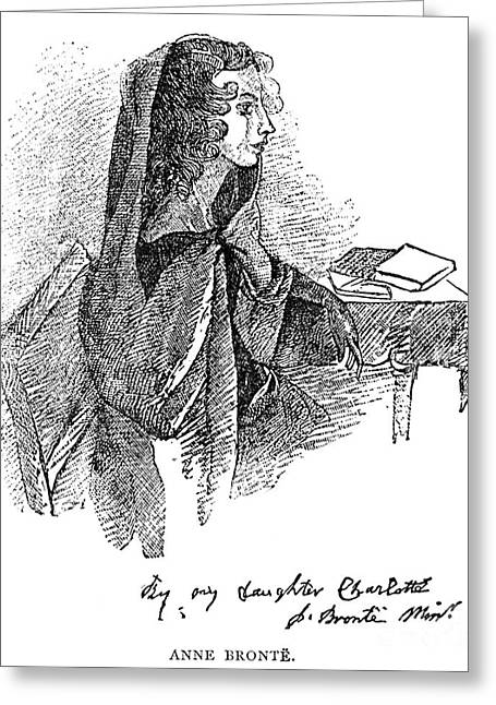 Charlotte Greeting Cards - Anne BrontË (1820-1849) Greeting Card by Granger
