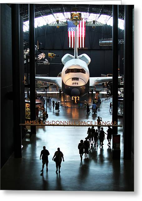 Enterprise D Greeting Cards - Annex Greeting Card by Brian M Lumley