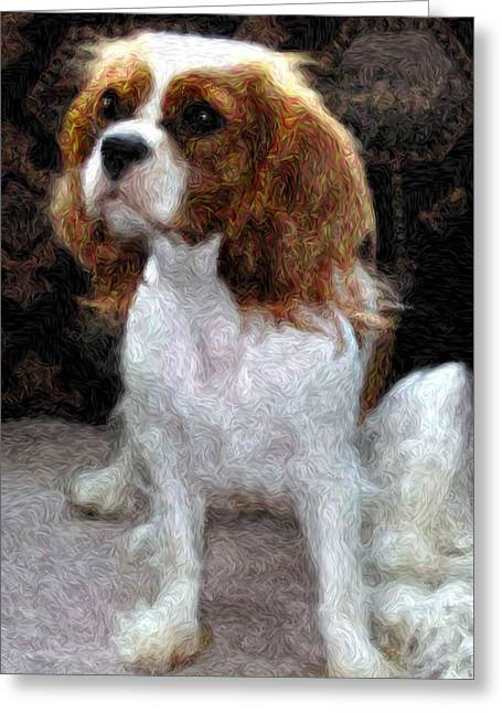 Spaniel Digital Art Greeting Cards - Annie Greeting Card by Julie Niemela