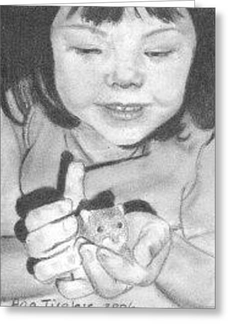 Hamster Drawings Greeting Cards - Annies Little Friend - ACEO Greeting Card by Ana Tirolese