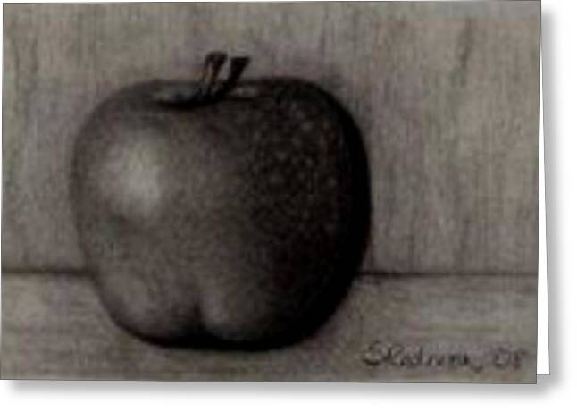Fruit Tree Drawings Greeting Cards - Another Apple Greeting Card by Shannon Redmon