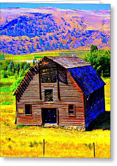 Old Structure Greeting Cards - Another Barn Greeting Card by Randall Weidner