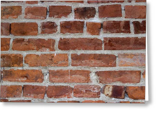 Brick Buildings Greeting Cards - Another Brick In The Wall Greeting Card by Heidi Smith