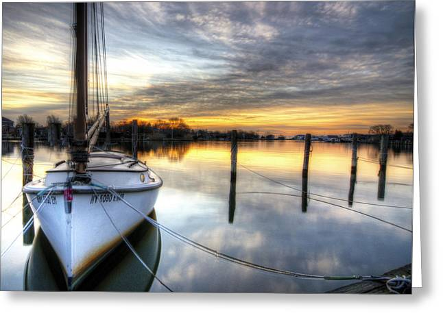Babylon Greeting Cards - Another December Sunrise Greeting Card by Vicki Jauron