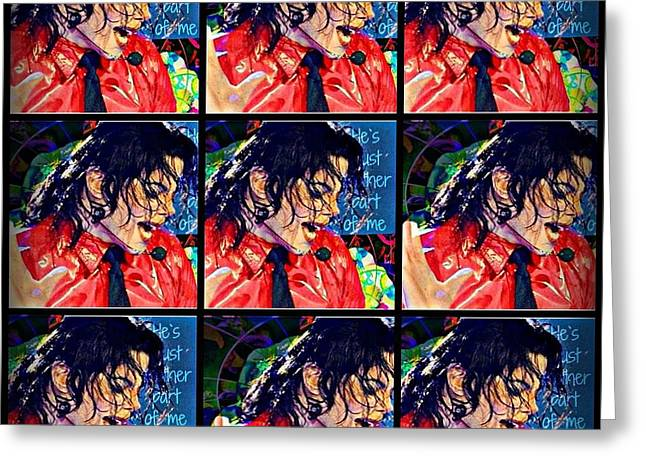 Mj Greeting Cards - Another Part of Me Greeting Card by Jan Steadman-Jackson