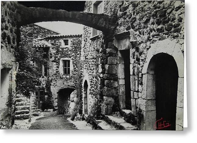 Romaine Greeting Cards - Another Residence in Childhood Alba France Ardeche Greeting Card by Colette V Hera  Guggenheim