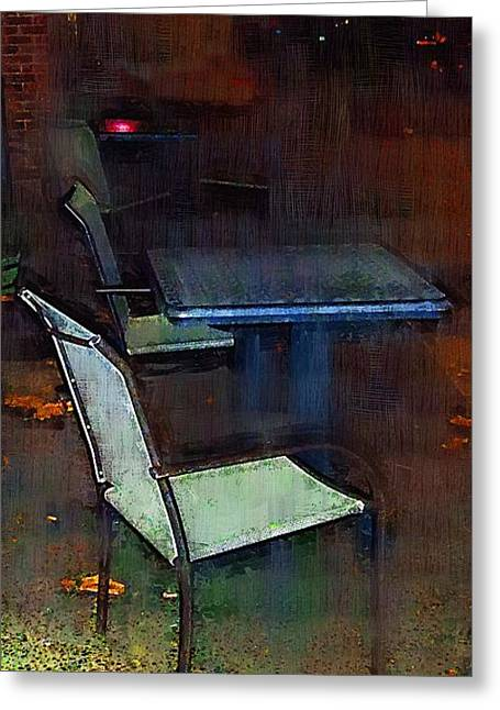 Night Cafe Digital Art Greeting Cards - Another Saturday Night Greeting Card by RC DeWinter