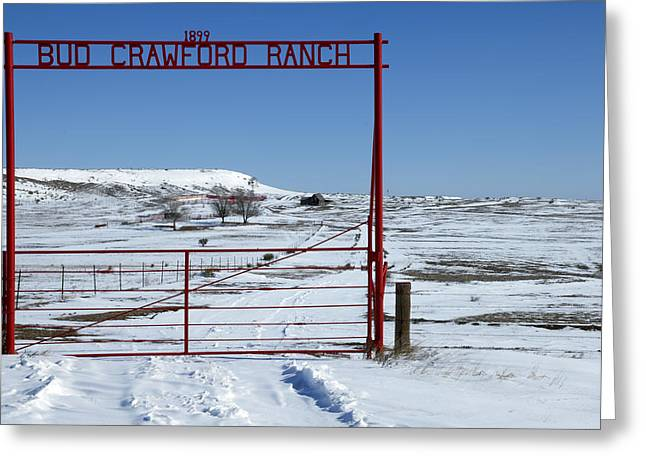 Express Greeting Cards - Another snow on Crawford Ranch Greeting Card by Gary Langley