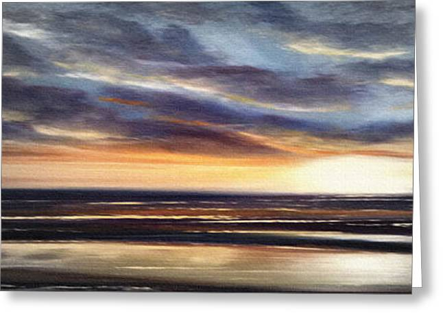 Sunset Posters Greeting Cards - Another Sunset in Paradise - Panoramic Greeting Card by Gina De Gorna