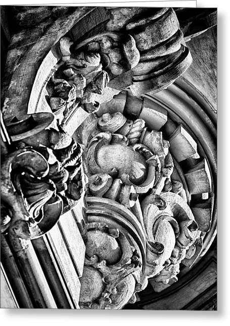 Blackrussianstudio Greeting Cards - Ansonia Building Detail 27 Greeting Card by Val Black Russian Tourchin