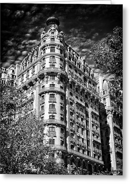 Tone Mapped Greeting Cards - Ansonia Building Detail 32 Greeting Card by Val Black Russian Tourchin