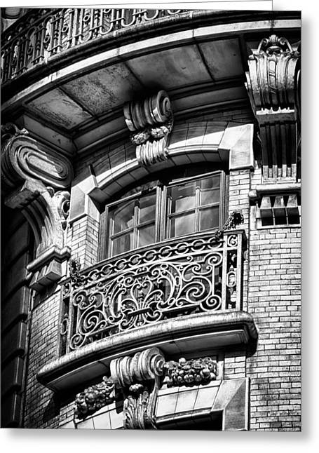 City Lights Greeting Cards - Ansonia Building Detail 43 Greeting Card by Val Black Russian Tourchin