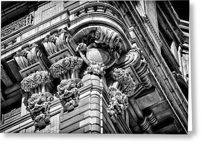 Ansonia Building Detail 46 Greeting Card by Val Black Russian Tourchin