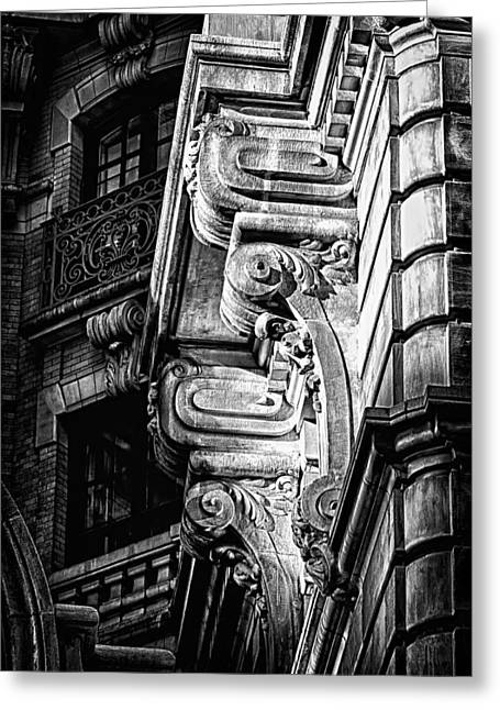 Ansonia Building Detail 49 Greeting Card by Val Black Russian Tourchin