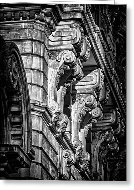 Ansonia Building Detail 7 Greeting Card by Val Black Russian Tourchin