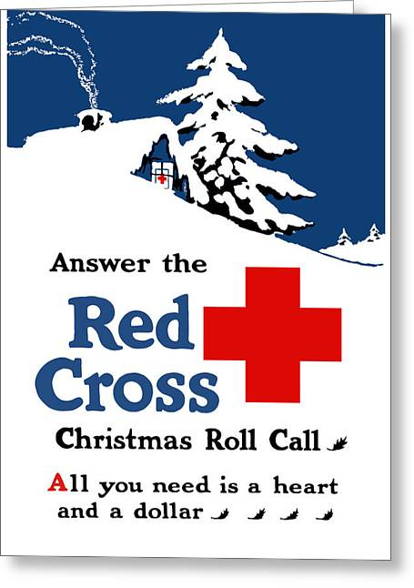 Vets Greeting Cards - Answer The Red Cross Christmas Roll Call Greeting Card by War Is Hell Store