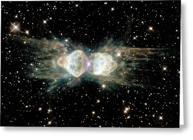 Ant Planetary Nebula Greeting Card by Nasaesastscihubble Heritage Team