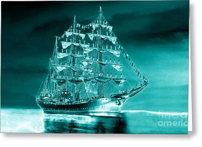 Ocean Sailing Greeting Cards - Antarctic Explorers Greeting Card by David Lee Thompson