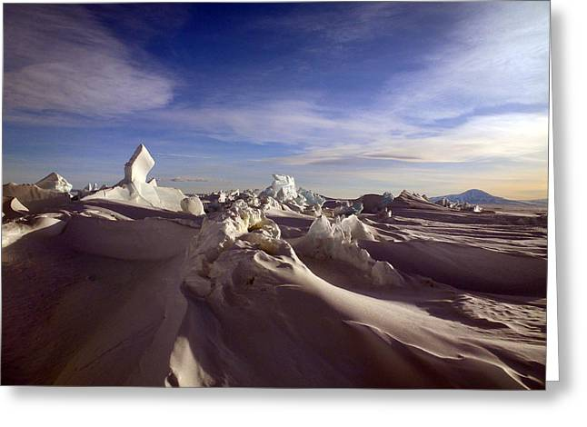 Antarctic Landscape 152 Greeting Card by David Barringhaus