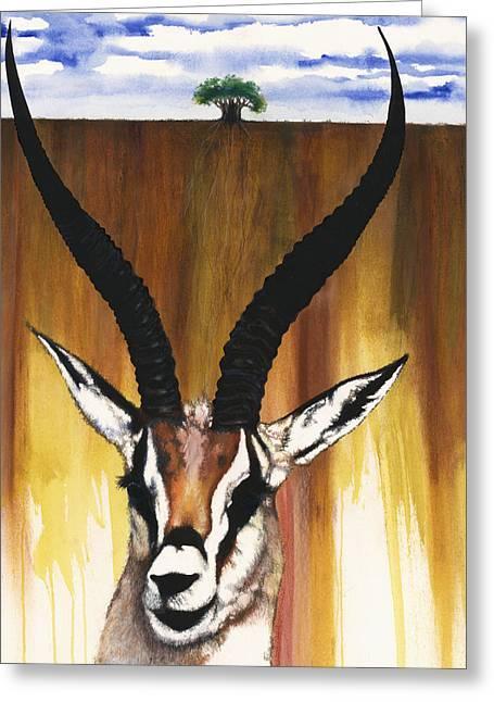 Spirt Greeting Cards - Antelope Greeting Card by Anthony Burks Sr