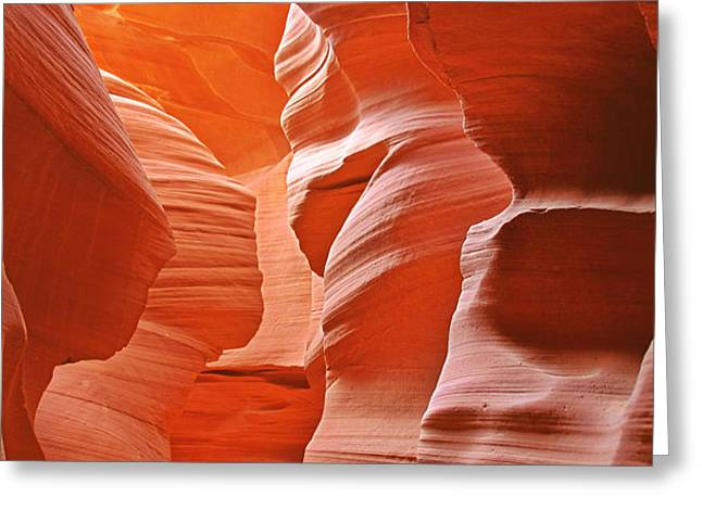 Antelope Canyon - Nature's Art Gallery Greeting Card by Christine Till