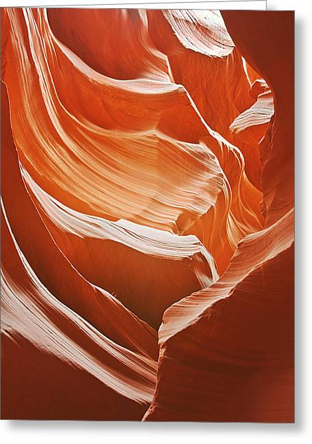 Western Usa Greeting Cards - Antelope Canyon - So much brilliance Greeting Card by Christine Till