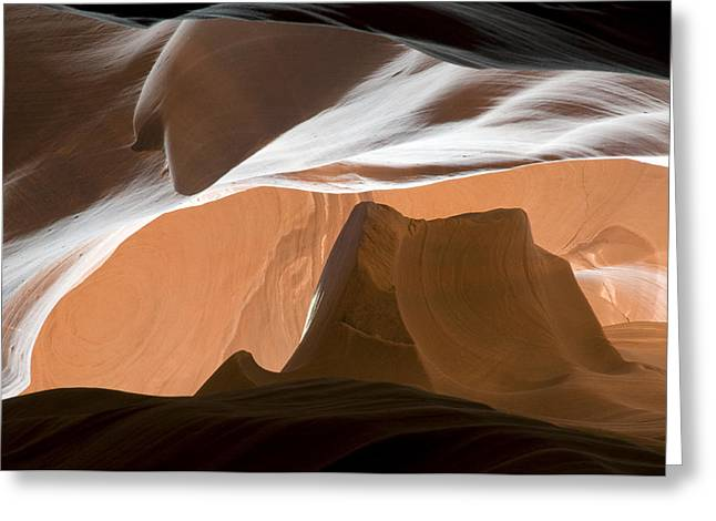 Recently Sold -  - Layer Greeting Cards - Antelope Canyon Desert Abstract Greeting Card by Mike Irwin
