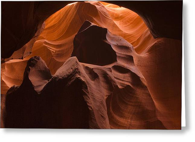 Sand Art Greeting Cards - Antelope Slot Canyon Greeting Card by Andrew Soundarajan