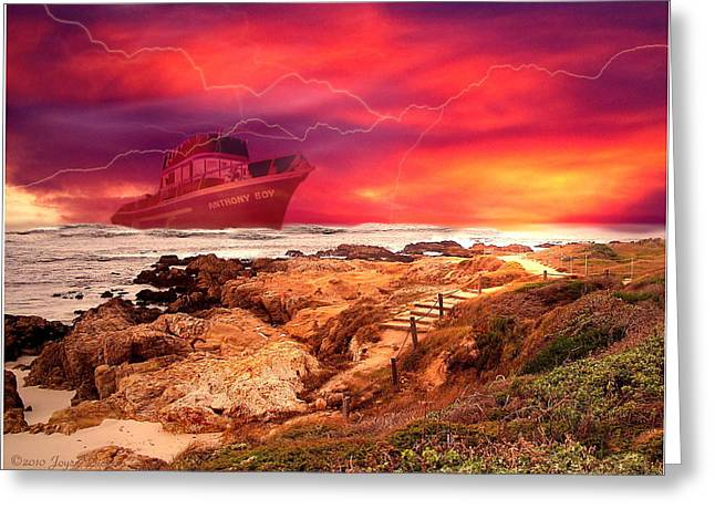 Pacific Ocean Prints Greeting Cards - Anthony Boy Waiting Out the Storm Greeting Card by Joyce Dickens