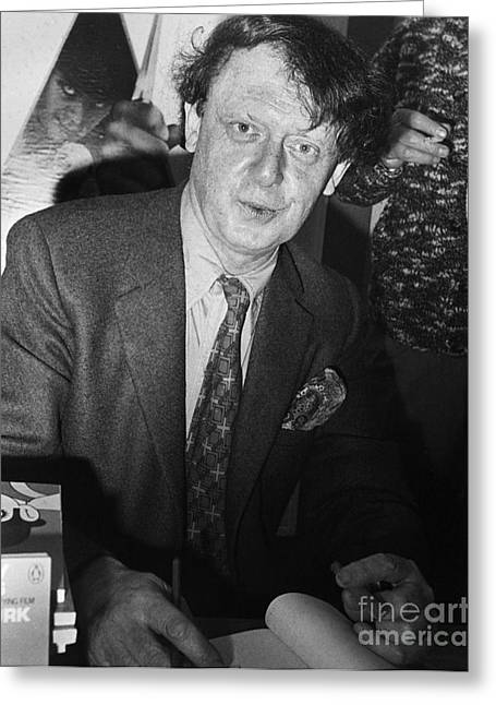 Smoking Book Greeting Cards - Anthony Burgess (1917-1993) Greeting Card by Granger
